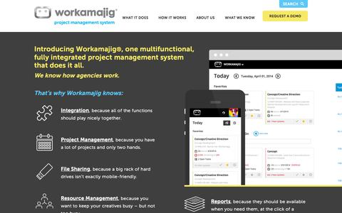 Screenshot of Home Page workamajig.com - Workamajig™ Platinum | The #1 Project Management Software for the Creative Industry - captured Oct. 1, 2015