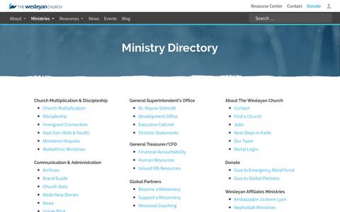 Ministries | The Wesleyan Church