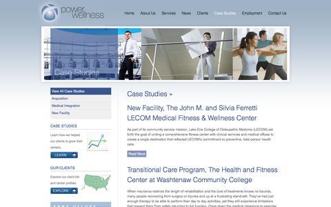 Screenshot of Case Studies Page powerwellness.com - Case Studies Archives « Power Wellness - captured July 14, 2016