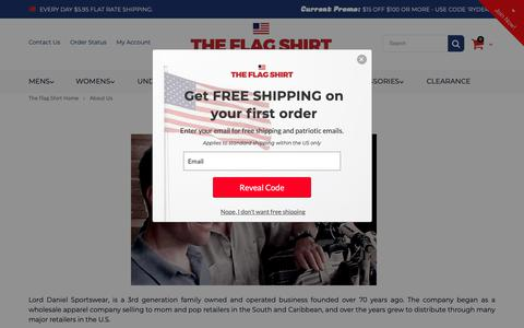 Screenshot of About Page theflagshirt.com - About Us   The Flag Shirt - captured Sept. 30, 2018
