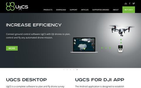 Screenshot of Home Page ugcs.com - Ground Station Software | UgCS PC Mission Planning - captured Sept. 30, 2017