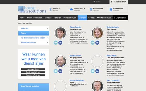 Screenshot of Team Page houseofsolutions.nl - Team - House of Solutions - captured Oct. 3, 2014