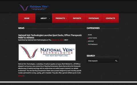 Screenshot of Press Page nationalvein.com - National Vein News - captured Feb. 28, 2016