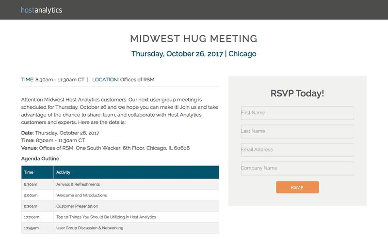 Join Our User Group in the Midwest   Host Analytics