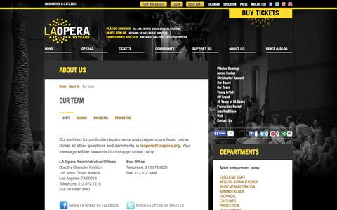 Screenshot of Team Page laopera.org - LA Opera - Company - Our Team - captured Dec. 5, 2015