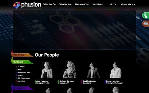 Screenshot of Team Page phusionim.com - Phusion IM - Our People - captured Oct. 2, 2014