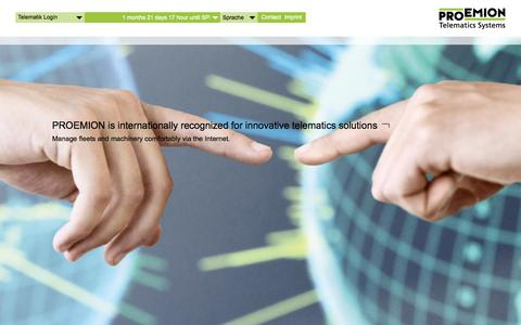 Screenshot of Home Page proemion.com - Home - Proemion - captured Oct. 3, 2014
