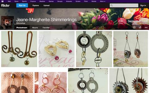 Screenshot of Flickr Page flickr.com - Flickr: Shimmerlings' Photostream - captured Oct. 23, 2014