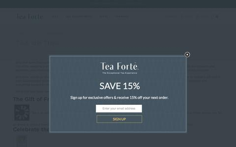 Explore Gift Giving with Tea Forté