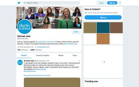 Tweets by Schwab Jobs (@SchwabJobs) – Twitter