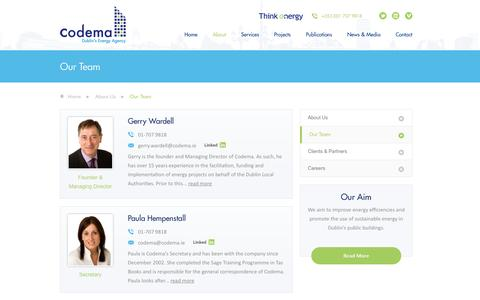 Screenshot of Team Page codema.ie - Our Team - Codema, Dublin - captured Oct. 3, 2014
