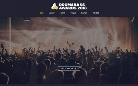 Screenshot of Home Page drumandbassawards.co.uk - Drum and Bass Awards 2018 at Starworks Warehouse Wolverhampton - captured Feb. 17, 2018