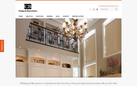 Screenshot of Home Page cbdesignandrenovations.com - CB Design and Renovations - Caroline Brown Toronto Interior designer - captured Jan. 22, 2016