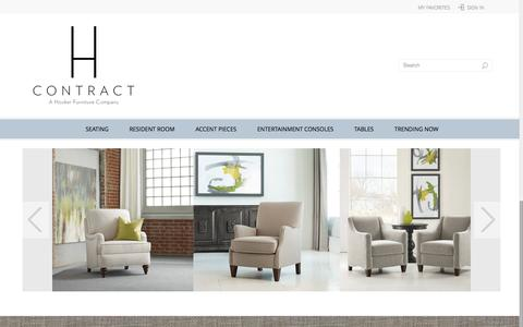 Screenshot of Home Page hcontractfurniture.com - H Contract Furniture | The Expert-Based Senior Living Furniture Brand - captured Dec. 5, 2015