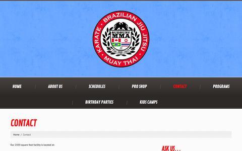 Screenshot of Contact Page sudburymma.com - Contact  |  Sudbury MMA - captured Sept. 30, 2014