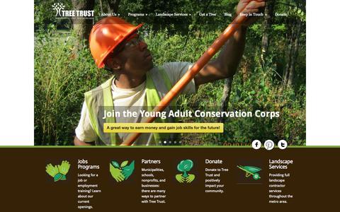Screenshot of Home Page treetrust.org - Tree Trust  main » Tree Trust - captured Oct. 7, 2014