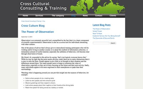 Screenshot of Blog crossculture-training.be - Blog   Cross Cultural Consulting & Training - captured Oct. 5, 2014
