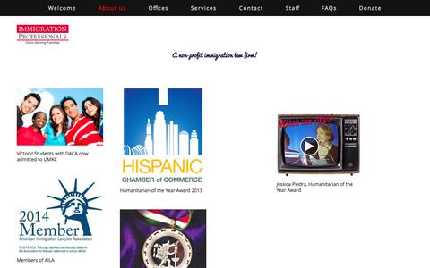 Screenshot of About Page immigrationprofessionals.us - About us — Immigration Professionals - captured Sept. 30, 2014