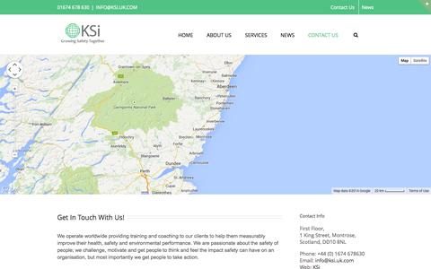 Screenshot of Contact Page ksi.uk.com - KSi – Improving Safety Worldwide   –  Contact Page - captured Oct. 6, 2014