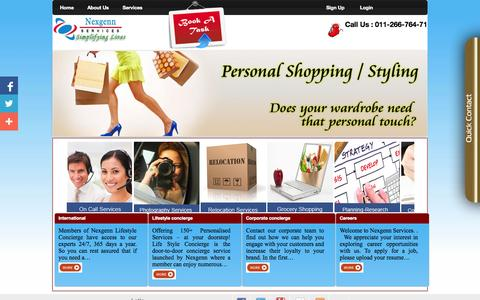 Screenshot of Home Page nexgennservices.com - Welcome To Nexgenn Concierge - captured Sept. 30, 2014