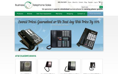 Screenshot of Home Page businesstelephone.com - Business Telephone Sales - captured June 23, 2017