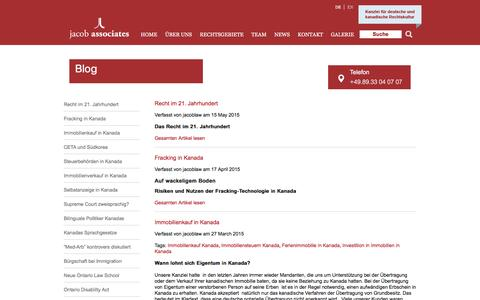 Screenshot of Blog jacoblaw.com - Blog » jacob associates - captured Nov. 26, 2016