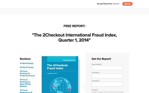 Screenshot of Landing Page 2checkout.com - International Fraud Index – 2Checkout - captured Aug. 20, 2016