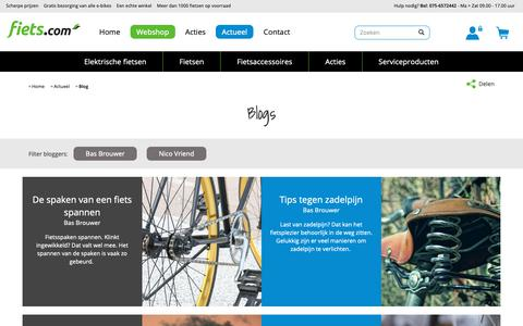 Screenshot of Blog fiets.com - Blogs | Fiets.com - captured Oct. 10, 2018