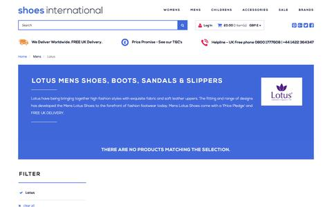 Screenshot of shoesinternational.co.uk - Mens Shoes, Boots, Sandals & Slippers | Shoes International - captured Aug. 25, 2017