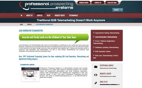 Screenshot of Press Page professionalprospecting.com - Telemarketing Company - Professional Prospecting Systems - captured Nov. 11, 2016