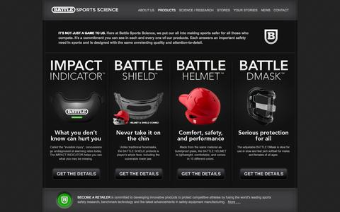 Screenshot of Products Page battlesportsscience.com - Products :: Battle Sports Science - captured Sept. 30, 2014