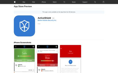 ActiveShield on the AppStore