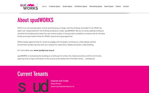 Screenshot of About Page spudworks.org.uk - Spud Works | About - captured Oct. 23, 2018