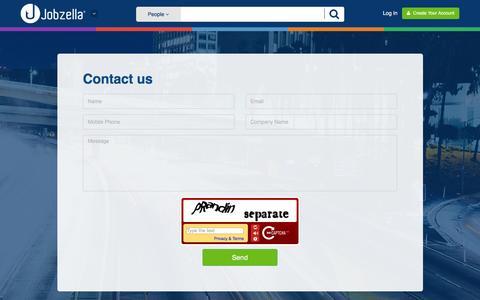 Screenshot of Contact Page jobzella.com - Contact us | Jobzella - captured Dec. 4, 2015