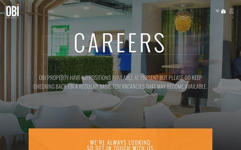 Screenshot of Jobs Page obiproperty.co.uk - Careers | OBI Properties - captured Dec. 2, 2016
