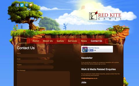 Screenshot of Contact Page redkitegames.co.uk - Contact Us | Red Kite Games - captured Oct. 26, 2014
