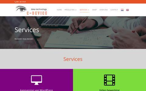 Screenshot of Services Page c-device.com - Services - C-DEVICE - captured Nov. 24, 2018