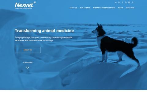 Screenshot of Home Page nexvet.com - Nexvet   Homepage - captured Aug. 11, 2015