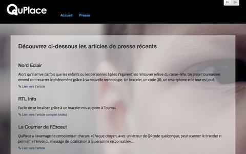 Screenshot of Press Page quplace.com - QuPlace - Press - captured Sept. 29, 2014