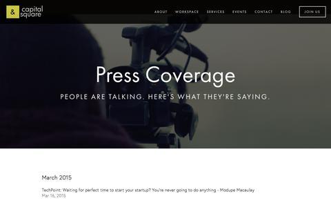 Screenshot of Press Page capitalsqua.re - Press — CapitalSquare - captured Jan. 25, 2016