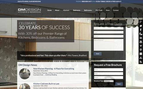 Screenshot of Press Page dmdesignuk.com - DM Design News | Kitchens | Bedrooms | Bathrooms | DM Design - captured Oct. 1, 2014