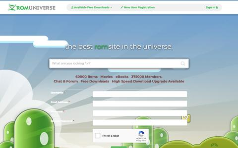 Screenshot of Signup Page romuniverse.com - Register - GBA Roms, 3DS Roms, NDS Roms, Switch Roms, Wii and more! | RomUniverse - captured Oct. 21, 2018
