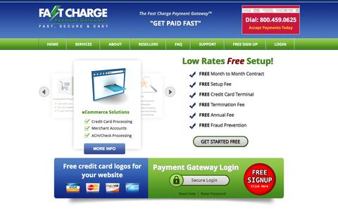 Screenshot of Home Page fastcharge.com - Payment Gateway – Fast Charge Payment Gateway - captured June 16, 2016