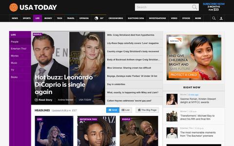 Screenshot of Team Page usatoday.com - Celebrity Photos, Videos and Interviews - USATODAY.com - captured Jan. 5, 2016