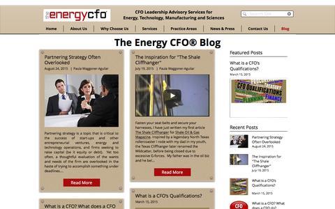 Screenshot of Blog theenergycfo.com - Blog | Finance | Entrepreneurship | Energy | The Energy CFO® - captured Oct. 22, 2017