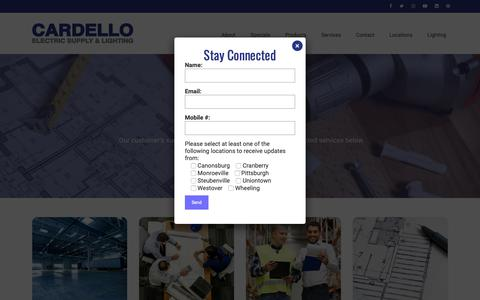 Screenshot of Services Page cardello.com - Services – Cardello Electric Supply & Lighting - captured Oct. 7, 2018