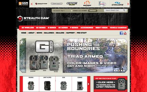 Screenshot of Home Page stealthcam.com - Stealth Cam Digital Scouting Cameras, Infrared Trail Cameras and Accessories - captured Oct. 12, 2015