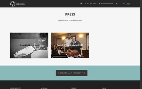 Screenshot of Press Page ricomunica.it - Press - Ricomunica - captured Aug. 17, 2016