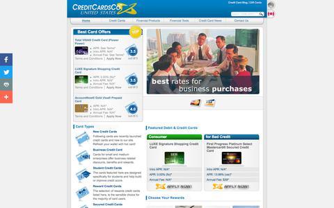 Screenshot of Home Page creditcardsco.com - Credit Cards - Credit Card Offers Review at CreditCardsCo - CreditCardsCo.com - captured July 23, 2018