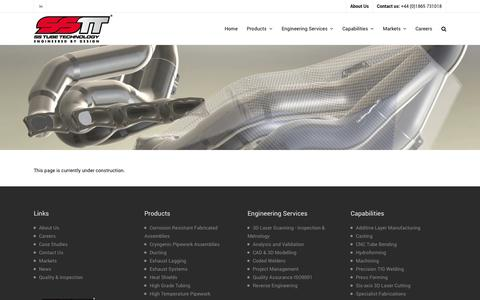 Screenshot of Case Studies Page sstubetechnology.com - SS Tube Technology |   Case Studies - captured Sept. 30, 2014